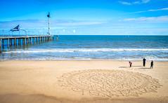 Brighton Mandala (yecatsiswhere) Tags: mandala southaustralia brighton winter beach sand art beachart healing adelaide australia