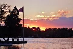 52 (_T_Willi_95) Tags: sunset summer usa lake nature beautiful night canon outdoors boat americanflag edits photograghy lakeorion canont3i rebelt3i