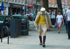 OLD_MAN (At the Speed of Life) Tags: street old man colour green london walking journey manual hampstead elederly