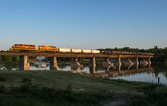 Going Wide on 597 (Joseph Bishop) Tags: railroad reflection train track tracks rail railway trains rails grandriver railfan caledonia sor emd sd402 3404 3049 gp402lw southernontariorailway rlhh cnhagersvillesubdivision