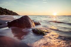 Sunset and waves (Explore 29 Jun'16) (E.J.A. Photo) Tags: sonnenuntergang inselrgen wasser meer langzeitbelichtung ostsee wellen steine explore