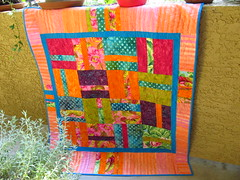 Penny's 'Piece O' Cake' by Janie (crazyvictoriana) Tags: modern bright quilt improvise blocks