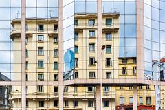 Reflexion (Stéphane Sélo) Tags: city urban france reflection architecture lyon pentax rhône reflexion ville façade immeuble minimalisme pentaxk3ii