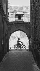 Moped @ Marrakech medina (PaulHoo) Tags: marrakech medina city urban marocco africa 2016 moped person contract symmetry bw blackandwhite monochrome light shadow transport street streetphotography candid streetcandid ilobsterit