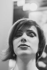 Calmness (Mirslav Hristff) Tags: blackwhite bulgaria bw sony hair beautiful woman closeup girl calm calmness 35mm