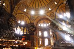 Hagia Sophia (Cagsawa) Tags: church architecture turkey basilica islam religion istanbul mosque christianity fresco sunbeam hagiasophia byzantine hagiasofia sultanahmet ayasofya ayasofia rx100