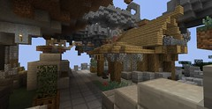 downtown remake (fuxstag) Tags: new downtown floating smith fantasy blacksmith armory remake medeival floatingisland minecraft