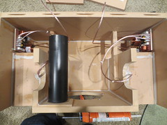 Subwoofer baffle is glued on Boombox (burritobrian) Tags: diy speaker boombox overnightsensations speakerbuild sd215a88