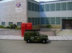 Brixton bus garage diorama (4) (kingsway john) Tags: kingswaymodels londontransport busgarage diorama model card kit 176 scale brixton bus garage londontransportmodel oo gauge miniature