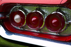 Thunderbird tail light (Trevor King 66) Tags: red classic car chrome thunderbird taillight
