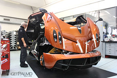 Pagani Factory Orange Huayra (getpalmd) Tags: factory supercar zonda pagani huayra
