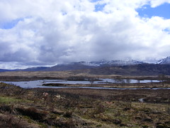 Rannoch moor (leedslily) Tags: sky cloud mountain snow water scotland highlands loch moor rannoch