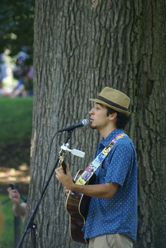 Singing in the park