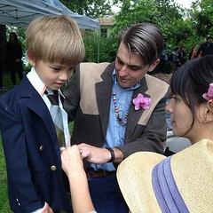 """It takes a whole family to help a little dude get that spiffy! • <a style=""""font-size:0.8em;"""" href=""""https://www.flickr.com/photos/61640076@N04/9060680832/"""" target=""""_blank"""">View on Flickr</a>"""