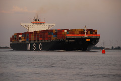 MSC Athens (larry_antwerp) Tags: netherlands ship vessel container schelde schip rilland mediterraneanshipping costamare 9618305