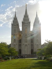 ...from Temple Square, Salt Lake City, UT (Brian Just Got Back From...) Tags: utah saltlakecity lensflare mormontemple
