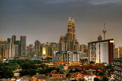 KL from Northern Suburb (abrani61) Tags: sunset dusk malaysia kl klcc