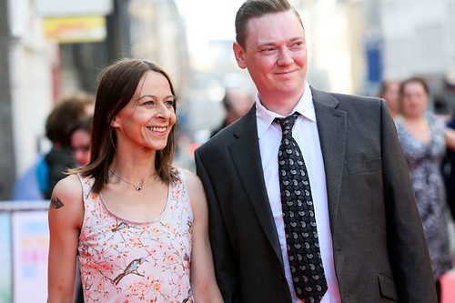 Kate Dickie arriving on the red carpet for Breathe In at the Festival Theatre