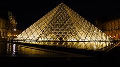 Lourve Palace, Paris (Kelvin Lee - Travel, Tennis, Street Photographer) Tags: paris france night evening pyramid panasonic lourve impei lx5 lx3