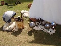 Summer Solstice Festival (NT Sutton Hoo) Tags: summer camp england history tents suffolk crafts helmet solstice warrior nationaltrust encampment summersolstice anglosaxon suttonhoo