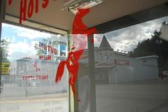 Outback Jacks (heatherjoan) Tags: canada reflection window sign shop bc nicola pacific northwest wayne columbia business drug princeton british thompson shoppers similkameen mart cascadia tulameen