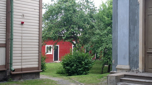 Apple tree outside Orthodox Pokrovskaya Church inside Lappeenranta fortress