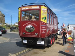 Aug-13 rear view of Sentinal Steam Bus GT2827 Whitby (Cheltonian1966) Tags: bus view rear steam whitby sentinal gt2827