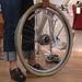 Public Bike: fixing a flat tire