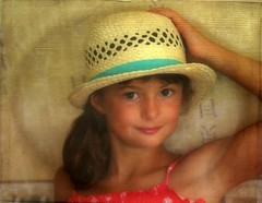 Mathilde, my granddaughter : 8 1/2 years (mamietherese1) Tags: textures fabuleuse phoeniximmortal artwithinportraits cfportraits