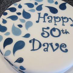 Blue Swirl Birthday Cake