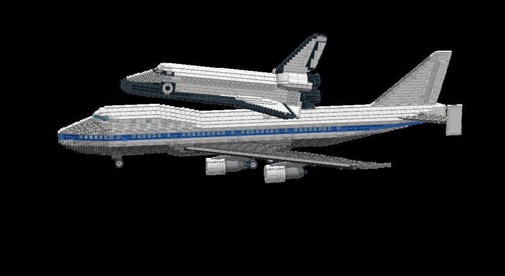 lego space shuttle and plane - photo #42
