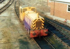 1979-9-29 T&HPA No.3, ex BR D2023, Middlesbrough Docks (delticalco) Tags: br rail railway trains 03 shunter industrialrailway exbr