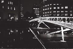 This is a bridge (Casey Mark Brown) Tags: bridge white black london 120 film skateboarding super xp2 400 skate wharf roll canary mm 35 ilford praktica b100