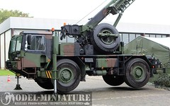 Liebherr with crane (Model-Miniature / Military-Photo-Report) Tags: man nbc julie tank military police militaire transporter fuchs chemical faun decontamination actros mg42 chimique ludmann décontamination bergpanzer