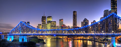 Bribane's colors (Fabdub) Tags: hdr brisbane storybridge 31mm18limited australie australia buildings bridge longexposure night nuit pentaxart pentax31limited pentaxk7 river tour tower travel