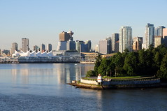 Vancouver skyline and Stanley Park (CKwok Photography) Tags: vancouver stanleypark canadaplace