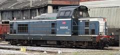 SNCF Diesellocomotive N 666042. (Franky De Witte - Ferroequinologist) Tags: de eisenbahn railway estrada chemin fer spoorwegen ferrocarril ferro ferrovia