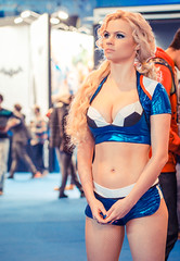 PES promo girl at Igromir 2013 (Sergey Galyonkin) Tags: show game girl beautiful expo cosplay russia moscow games boothbabe 2013 igromir