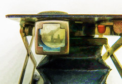 Shooting Through a Kodak No. 3 Folding Pocket Model H (jefg99) Tags: camera flickr painted topaz cameracollection ttv kodal modelh
