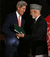 Secretary Kerry Discusses Bilateral Security Agreement With Afghanistan (U.S. Department of State) Tags: afghanistan johnkerry kabul hamidkarzai