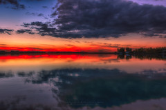 Tranquility 3160_13 (IanDMcGregor) Tags: autumn sunset lake canada reflection water beautiful beauty landscape photography twilight nikon saskatchewan cloudscape d800 waterscape refelections canadianphotographer rokeby yorklake ianmcgregor ianmcgregorphotographycom vision:sunset=099