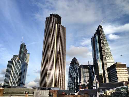 London skyline - City of London - Natwest Tower, the Gerkhin & the Shard!