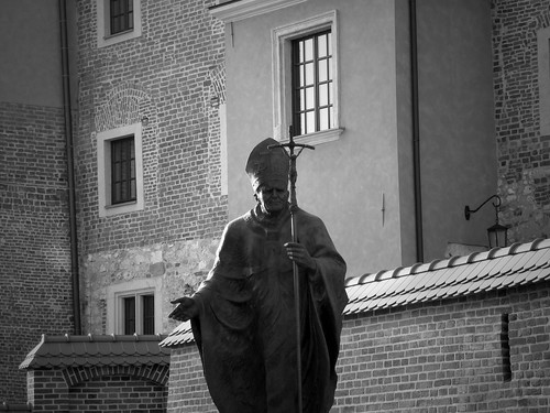 Statue de Jean-Paul II, Cracovie, Pologne