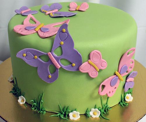 Butterflies_Cake