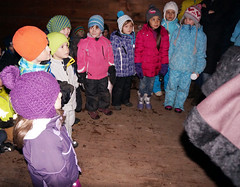 Vor dem Samichlaus (bcuzwil) Tags: santa christmas kids club weihnachten schweiz switzerland kinder weihnachtsmann claus badminton wald bcu samichlaus uzwil badmintonclub schmutzli