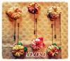 AGUJONES BRONCE CON FLOR JAPONESA HECHA A MANO. (KOKORO Heartmade) Tags: adorno broche flor kokoro japón complemento kanzashi agujón