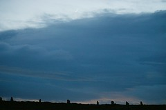 Ring of Brodgar (Owen H R) Tags: moon silhouette night orkney ringofbrodgar 2014 owenhr