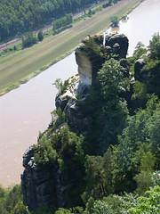 Elbsandsteingebirge - Bastei (Seesturm) Tags: sachsen sandstein bastei felsen schsischeschweiz rathen elbsandsteingebirge kurortrathen 2013 basteibrcke seesturm basteihotel