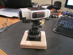 VIRB Time Lapse Mount Using Clock Motor (Tim Metcalf) Tags: diy unitedstates michigan garmin lakeorion virb actioncamera timelapseturntable