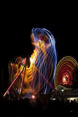 Sataman valot (JP Korpi-Vartiainen) Tags: park city summer people urban colors night finland dark happy evening tivoli amusement colorful long exposure harbour joy august event freetime pimeä multicolor kuopio ilta satama kesä vapaaaika yö valo kaupunki huvipuisto taivas kesäilta ihmiset elokuu urbaani kesäinen iloinen hauska väri riemu tapahtuma värillinen värikäs pitkä valotus huvi tumma hauskaa matkustajasatama pitää pohjoissavo öinen valojuova jpko monivärinen maljalahti huvitella